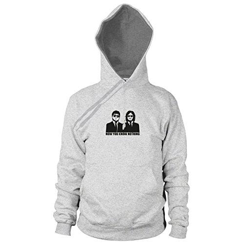 GoT: Blitzdings - Herren Hooded Sweater, Größe: L, Farbe: grau meliert