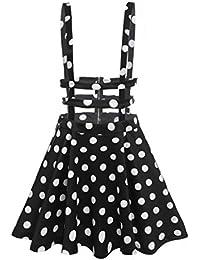 FINEJO Womens Girls Sweet Floral High Waist Mini Skirt