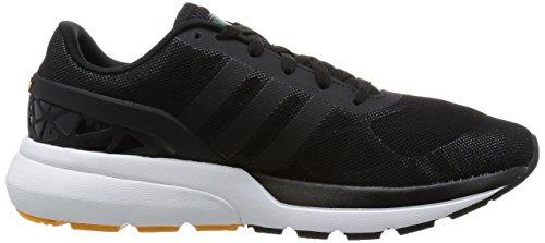 adidas Cloudfoam Flow, Chaussures de Sport Homme, Noir Noir / vert (noir essentiel / noir essentiel / vert équipement)