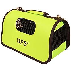 BPS (R) Portador Transportín Bolsa Bolso de tela Verde Mascotas (Tamaño L)