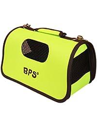 BPS (R) Portador Transportín Bolsa Bolso de tela Verde Mascotas