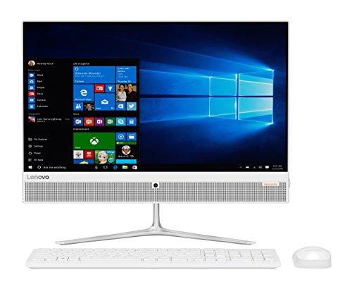 "Lenovo ideacentre AIO 510-23ASR - Ordenador de sobremesa todo en uno de 23"" FullHD (AMD A9-9410, RAM de 4GB, HDD de 1TB, AMD Radeon R5, Windows 10 Home 64 bit), blanco - Teclado QWERTY Español + Ratón USB"
