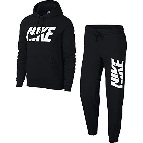 Nike Herren M NSW CE TRK FLC GX Tracksuit, Black, L