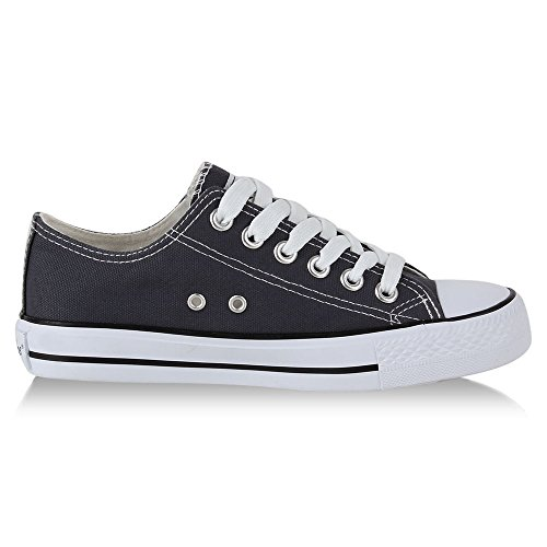 Damen Sneakers Sportschuhe Stoffschuhe Sportliche Schuhe Gr. 36-41 Grau
