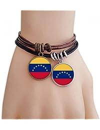 9c38df5e3e DIYthinker Venezuela Bandera Nacional América del Sur País Pulsera Doble de  ...
