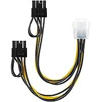 conecto CC20116 Grafikkarten-Stromadapter PCI-e, 6-polig weiblich auf 2X 6+2-polig Stecker Schwarz