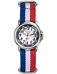 Trendy Kiddy - KL365 - Montre Garçon - Quartz Analogique - Cadran Multicolore - Bracelet Nylon Multicolore
