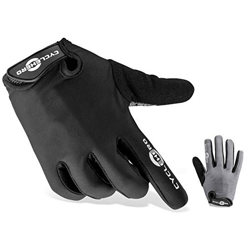 CYCLEHERO Komfortable Fahrradhandschuhe (Lange Version) MTB Handschuhe, (schwarz - lang, XL) Xl Lange Handschuhe