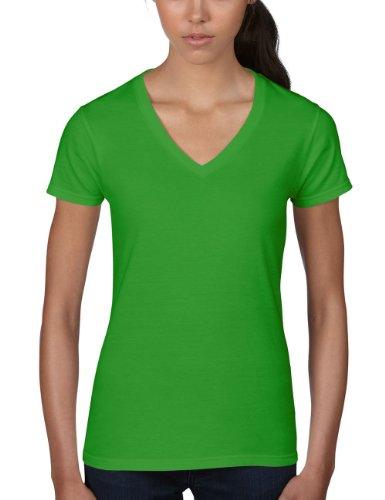 anvil-t-shirt-col-v-manches-courtes-femme-vert-gap-green-apple-302-2xl