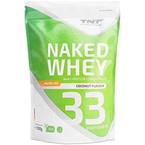 TNT Naked Whey + Laktase - 1kg Whey Protein Konzentrat - Eiweißpulver mit toller Löslichkeit & Geschmack - Proteinpulver (Cocos)