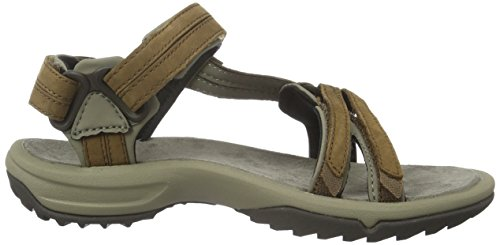 Teva Terra Fi Lite Leather W's, Sandales de sport femme Marron - Braun (brown 556)