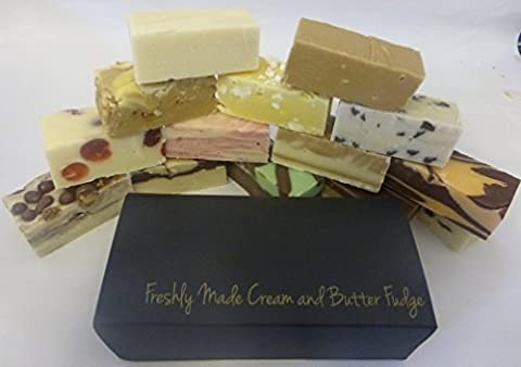Handmade Fudge Selection Box 400g. Choose your own 4 x 100g bars to make your own box from our range of flavours. Comes in a super GIFT BOX. Ideal