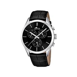 Lotus 18119/2 – Reloj de Pulsera Hombre, Cuero, Color Negro