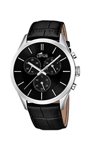 Lotus 18119/2 - Reloj de pulsera hombre, Cuero, color Negro