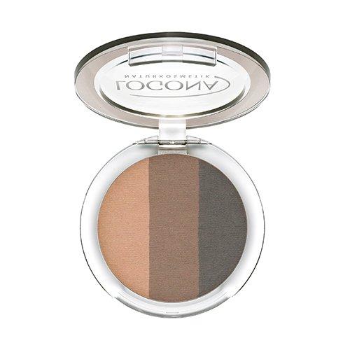 LOGONA Naturkosmetik Eyeshadow Trio No. 02 Cashmere, Natural Make-up, Lidschatten, abgestimmte Farben, mit Anti-Aging-Wirkung, Bio-Extrakte, Vegan, 4 g - Pflege-trio
