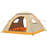 G4Free Large Pop Up Camping Tent Automatic Instant Setup Easy Fold back Beach Shelter with ANTI-UV Coating for 2-3 person UPF 50+