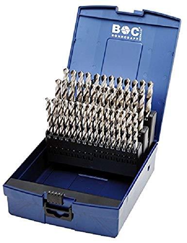 Bohrcraft Spiralbohrer HSS-E DIN 338 kobalt Typ N in ABS-Box, 51-teilig, 1-6 x 0,1 mm steigend / KE591, 1 Stück, 11401330050 -