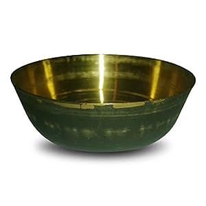 Bol de massage kansu en métal pour les pieds et le visage utilisé en médecine ayurvédique - inde - beurre clarifié (traditionnel mat)