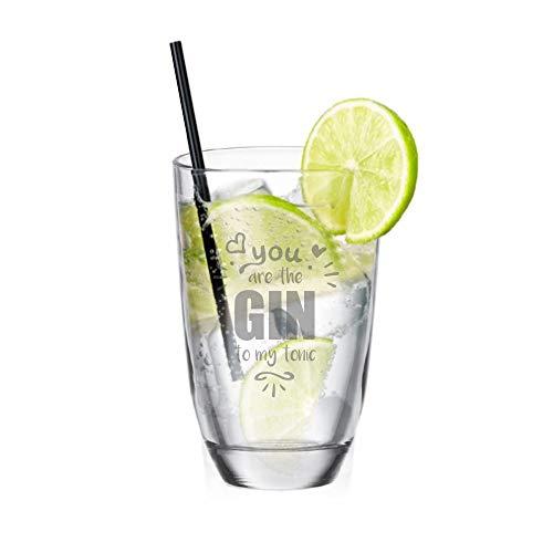 Gin - Glas ? You Are The Gin to My Tonic ? lustige Geschenkidee für Partner - Geschenkidee zum Valentinstag - Gin-Tonic - für sie und ihn - Longdrink - für Gute Freunde