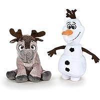 Frozen - Pack 2 peluches Calidad super soft - Olaf muñeco de nieve 20cm + Sven