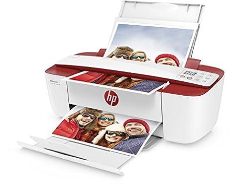 HP DeskJet 3733 Multifunktionsdrucker (Drucker, Scanner, Kopierer, HP Instant Ink ready, WLAN, ePrint, Airprint, USB, 4800 x 1200 dpi) weiß/rot