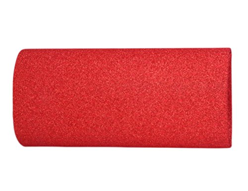 Giorno Di Saturn Signore Nobili Paillette Strass Party Long Evening Bag Clutch Rosso