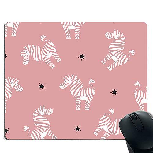 Malen Zebra-Spiel-Mauspad, genähter Rand, rutschfeste Gummibasis, Laser und optische Maus kompatibel -