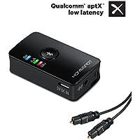 Home Spot® Dual Estimada Stream HD Bluetooth Transmisor de audio (Transmisor) con Auto de Recon nect Función y aptX (Dual Bluetooth Transmisor (S/PDIF–de entrada digital óptico))