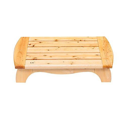 ZEMIN Wooden Anti-Rutsch-Eingang Badezimmer Fuß Hocker Zeder Bank Low, Holz Farbe ( größe : 65*35*15CM )