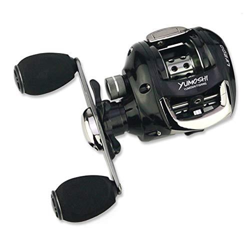 WOSOSYEYO YUMOSHI Fishing Reels 12 + 1 rodamientos de Bolas Relación de Velocidad 6.2: 1 Carrete de fundición de Cebo