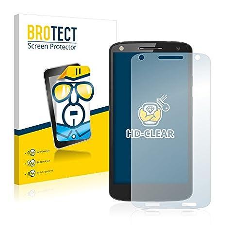 2x BROTECT Film Protection Motorola Moto X Force Protection Ecran - Transparent, Anti-Trace