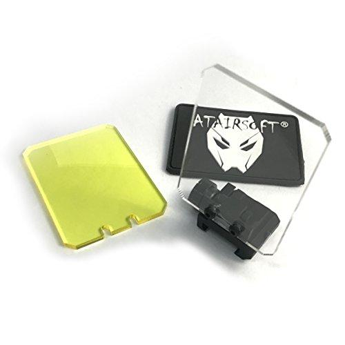 atairsoft táctico plegable reflex lente Square Protector de pantalla Alcance punto rojo...