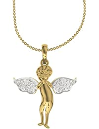 TBZ - The Original 18k Yellow Gold and Diamond Pendant