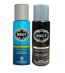 Brut Musk+Sport Style Efficacite Longue Duree Deodorant 200ml(pack of 2)