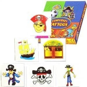 Colourful Pirate Tattoos, 24 supplied