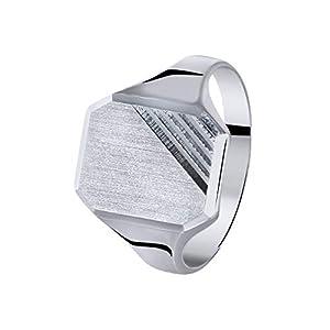 Lucardi – Silberner Siegelring für Herren für Herren – Silber