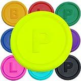 SchwabMarken 500 Marcadores Fichas con -B-, P- o -L- en 14 colores diferentes, Color Neon-Ge P