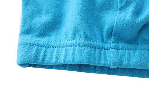 Manci Baumwolle Still BH, Damen Schwangerschafts Still BH für Stillen und Schlaf (Schwarz + Grau + Blau, XL/38B,38C,38D) - 3