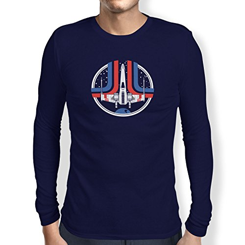 TEXLAB - Rebel Wing - Herren Langarm T-Shirt Navy