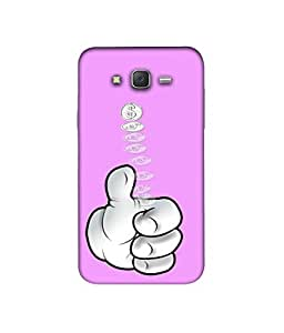Casotec Coine 3D Printed Hard Back Case Cover for Samsung Galaxy J7