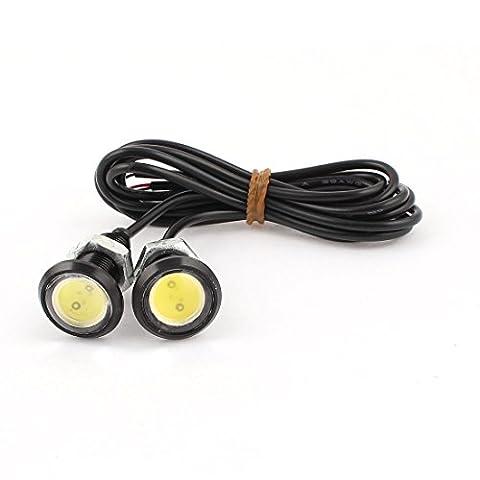sourcingmap® 2pcs Filetage Mont s/n Aigle Œil Brouillard Lumière Blanche Lampe feu jour