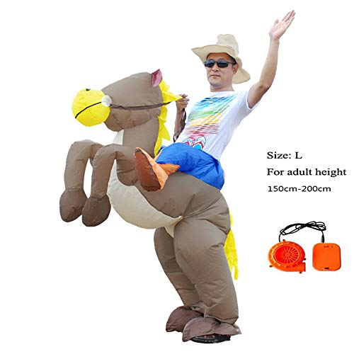 SHUFEI Blow Up Kostüm, Halloween REIT Kostüme, T-Rex Kinder Piggyback Kostüm, Reiten Zeug Beine Bären Kostüm Lustige Party Kleid Animal Cosply,L (Halloween Party Zeug)