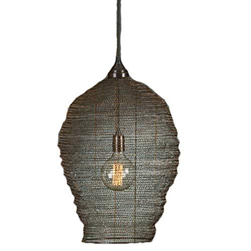 Bada Bing Hochwertige Große Hängelampe Harlem Korb Schwarz Lampe Metallgeflecht Netz Deckenlampe Dekolampe Edel (Designer-körbe)