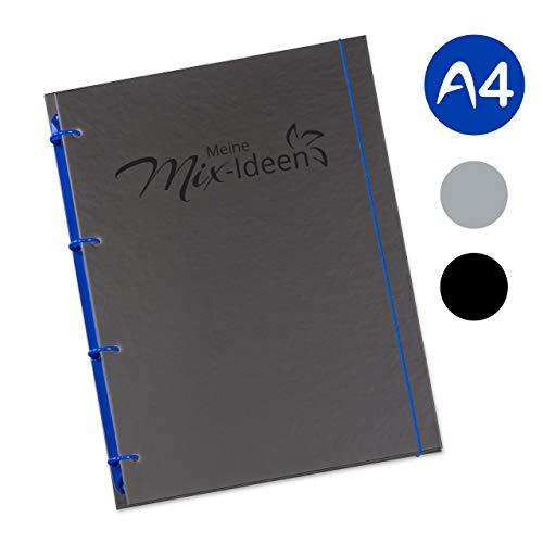 flexiNotes KOCHBUCH A4 Selberschreiben, Küchenmaschinen, Typ: Mix-Ideen, Königsblau