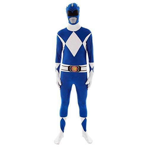 Generique - Morphsuit-Kostüm Power Rangers in Blau für Erwachsene (Kostüm Erwachsene Power Blauer Ranger)