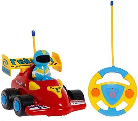 Toyen RC Cartoon Racing Car Action Figurine Radio Control Jouet avec Musique Cadeau pour Les Tout-Petits et Les  s   Belle Et Charmante