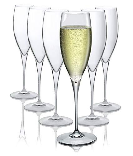 Copas de champán Bormioli Rocco - Apto para lavavajillas - Set de 6 -