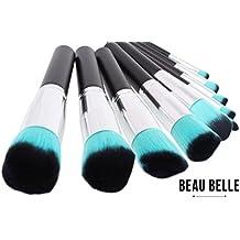 Beau Belle Brochas De Maquillaje - 10 Kabuki Brush - Brochas De Maquillaje Profesional - Kabuki Pinceles - Set Brochas Maquillaje - Makeup Brushes - Set Brochas Maquillaje Profesional - Makeup Brushes Set - Pinceles Maquillaje - Pinceles Maquillaje Profesional