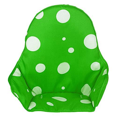 Hothuimin - Funda para asiento de trona de bebé, funda de cojín universal, lavable, plegable verde verde
