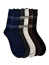 VINENZIA Pair acrowool crew length mens winter socks